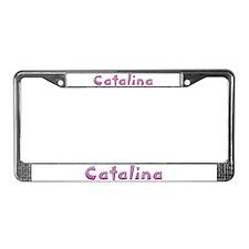 Catalina Pink Giraffe License Plate Frame
