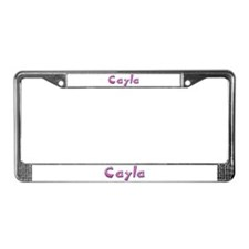 Cayla Pink Giraffe License Plate Frame