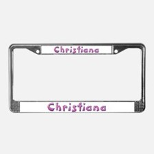 Christiana Pink Giraffe License Plate Frame
