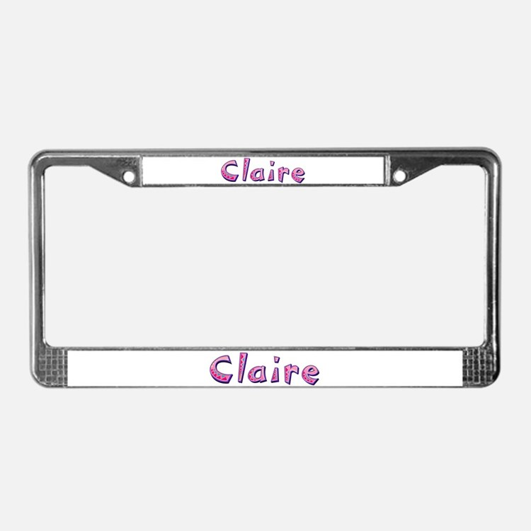 Claire Pink Giraffe License Plate Frame