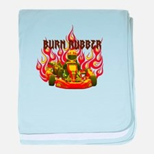 Burn Rubber baby blanket