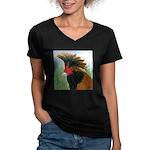 Gold Brabanter Women's V-Neck Dark T-Shirt