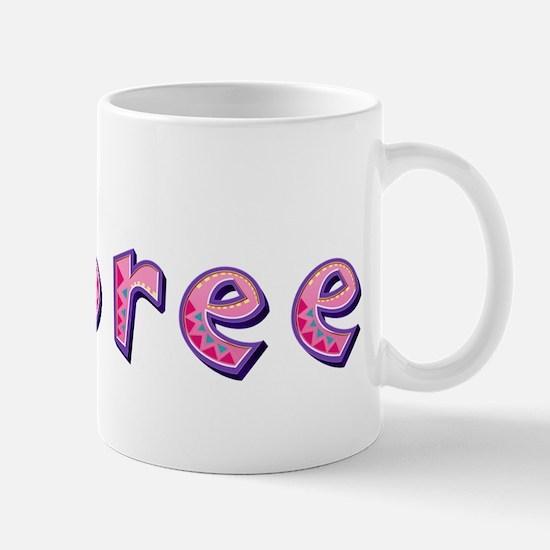 Aubree Pink Giraffe Mugs