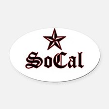 socal_005.psd Oval Car Magnet