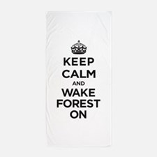 Keep Calm and Wake Forest On Beach Towel