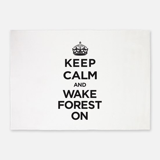 Keep Calm and Wake Forest On 5'x7'Area Rug