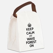 Keep Calm and Wake Forest On Canvas Lunch Bag