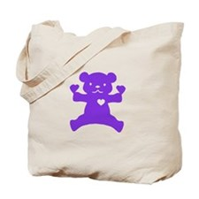 Purple Bear Tote Bag
