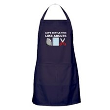 Lets Settle This Like Adults Apron (dark)