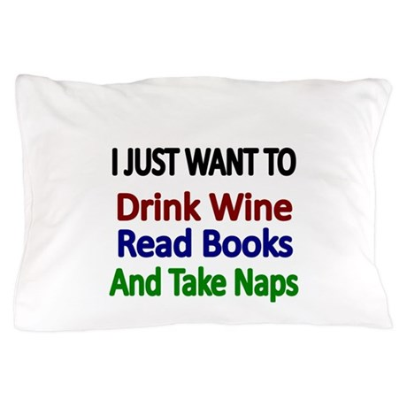 I Drink Wine Here Pillow