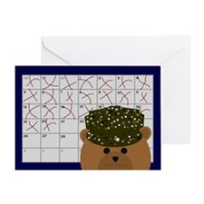 Countdown Army Working Uniform Greeting Card