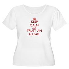 Keep Calm and Trust an Au Pair Plus Size T-Shirt
