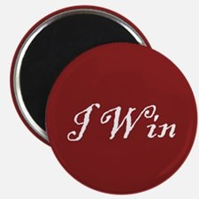 """""""I Win Button"""" Magnet"""