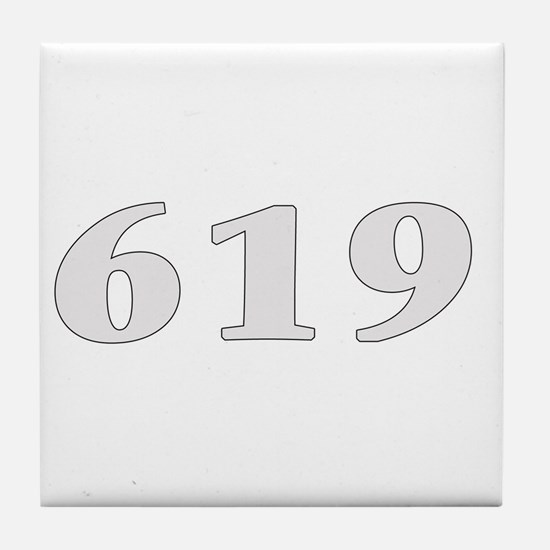 619 san diego area code baby  Tile Coaster