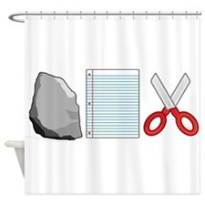Rock Paper Scissors Shower Curtain