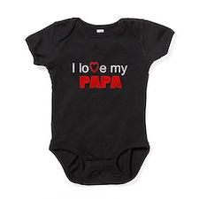 I love papa Baby Bodysuit
