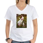 Windflowers & Boxer Women's V-Neck T-Shirt
