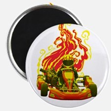 Kart Racer with Flames Magnets