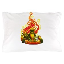 Kart Racer with Flames Pillow Case