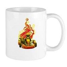 Kart Racer with Flames Mugs
