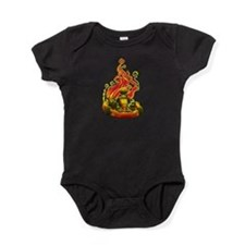 Kart Racer with Flames Baby Bodysuit