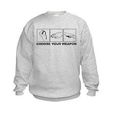 Rock Paper Scissors Choose Your Weapon Sweatshirt