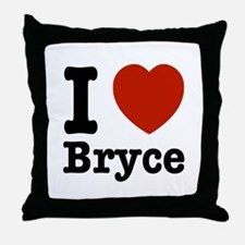 I love Bryce Throw Pillow