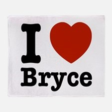 I love Bryce Throw Blanket