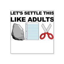 Lets Settle This Like Adults Sticker