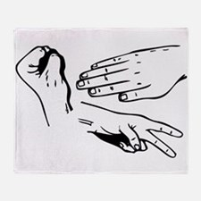 Rock Paper Scissors Hands Throw Blanket