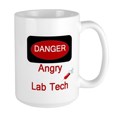 Danger Angry Lab Tech Large Mug