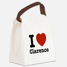 I love Clarence Canvas Lunch Bag