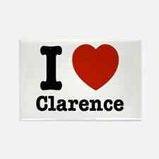 I love Clarence Rectangle Magnet