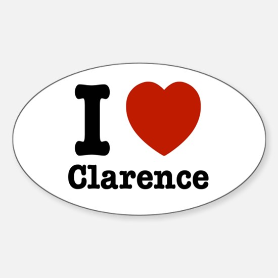 I love Clarence Sticker (Oval)