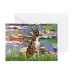 Lilies & Brindle Boxer Greeting Cards (Pk of 10)
