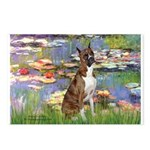 Lilies & Brindle Boxer Postcards (Package of 8)