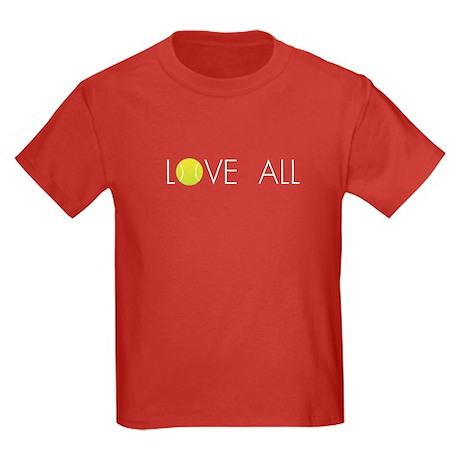 Tennis LOVE ALL Kids Dark T-Shirt
