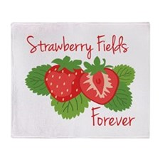 Strawberry Fields Forever Throw Blanket