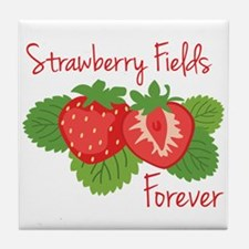Strawberry Fields Forever Tile Coaster