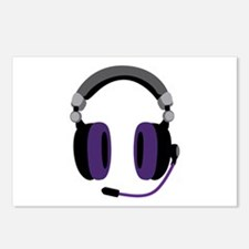 Video Gamer Headset Postcards (Package of 8)