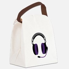 Video Gamer Headset Canvas Lunch Bag