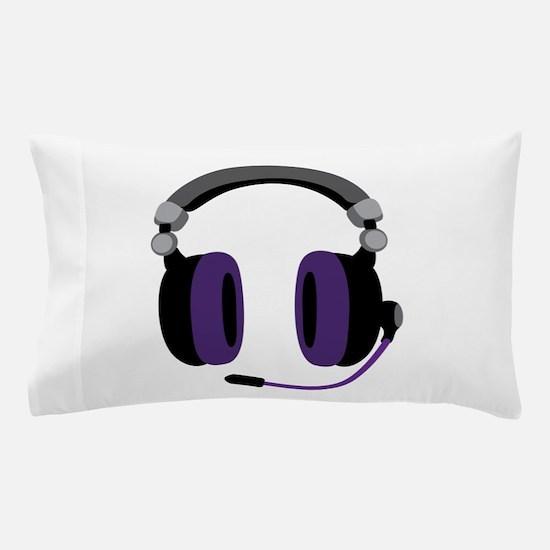 Video Gamer Headset Pillow Case