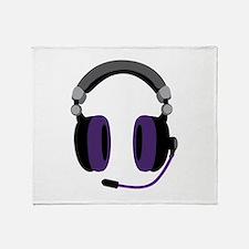 Video Gamer Headset Throw Blanket