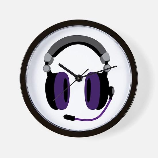 Video Gamer Headset Wall Clock