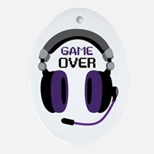 Game Over Ornament (Oval)