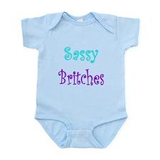 Teal/Purple Sassy Britches Infant Bodysuit