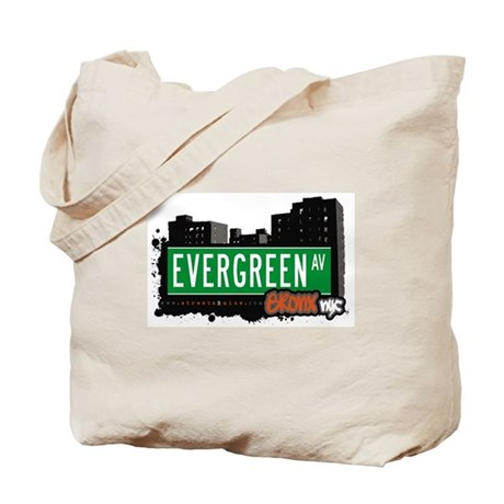 Evergreen Av, Bronx, NYC Tote Bag