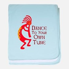 DANCE TO YOUR OWN TUNE baby blanket