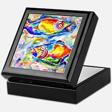 Colorful Artwork Fish Keepsake Box