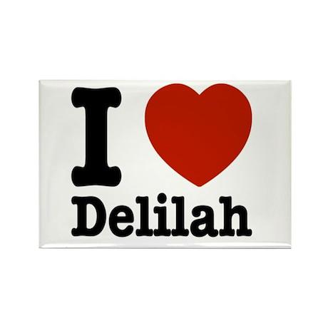 I love Delilah Rectangle Magnet (100 pack)